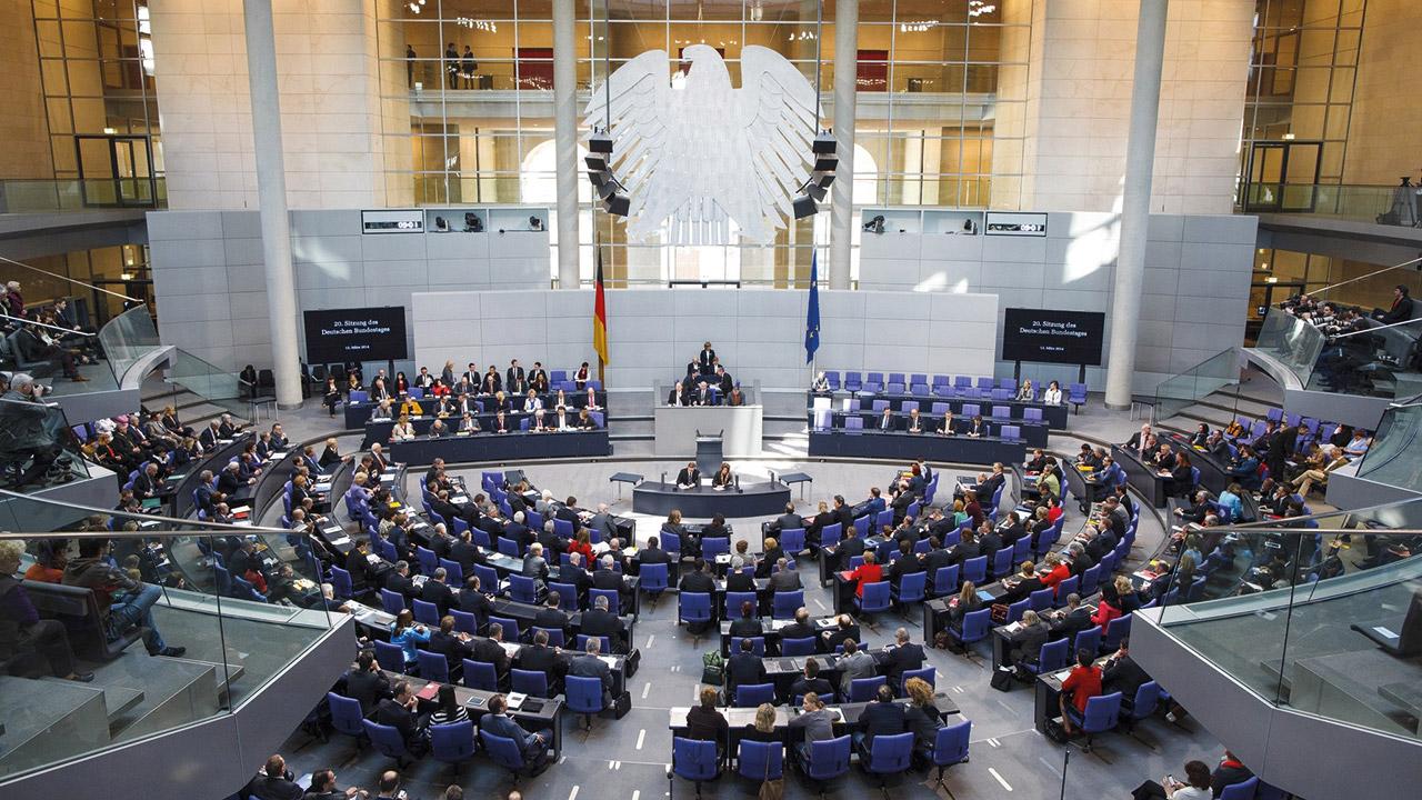 Plenarsaal im Deutschen Bundestag