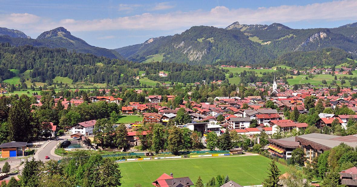 Ortsansicht von Oberstdorf