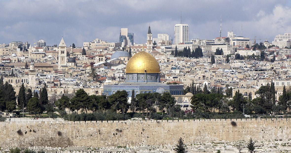 Blick auf Jerusalem zum Felsendom, Israel
