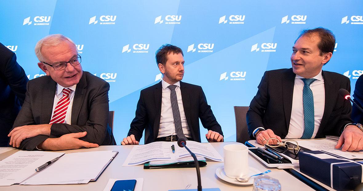 Thomas Kreuzer, Michael Kretschmer und Alexander Dobrindt