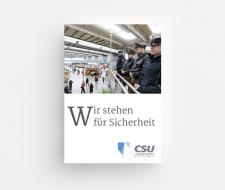 Booklet 'Wir stehen für Sicherheit'